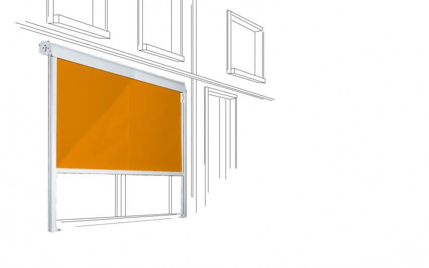 Store à descente verticale
